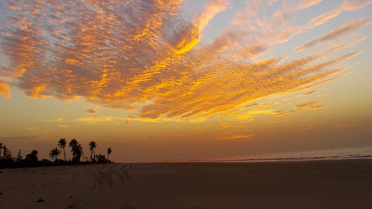 La plage ciel magnifique